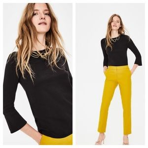 NEW Boden Althea black flare sleeve top 2
